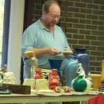 Steve giving his presentation on Cowan Pottery